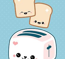 Cute Pink Toaster by sugarhai