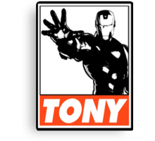 Iron Man Tony Obey Design Canvas Print