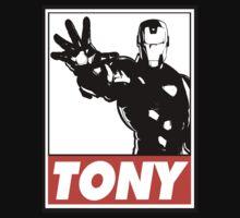Iron Man Tony Obey Design T-Shirt