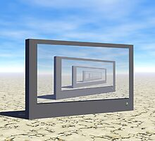 Flat Screen Desert Scene by perkinsdesigns