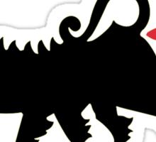 Farting Dog !!! (vulgar display of power) Sticker