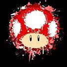 Splash Paint Super Mario Mushroom by scribbleworx