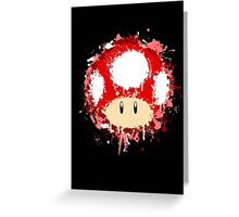 Splash Paint Super Mario Mushroom Greeting Card
