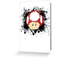 Abstract Super Mario Mushroom Greeting Card