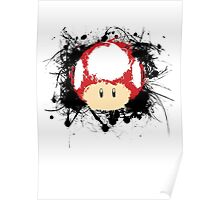 Abstract Super Mario Mushroom Poster