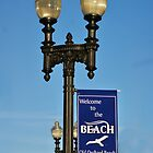 Street lights at Old Orchard Beach by jeanlphotos