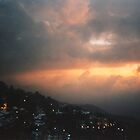 Night falls over Shimla, India by indiafrank