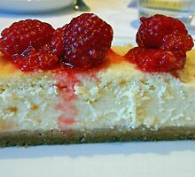 Slice of Cheesecake with Raspberries by BlueMoonRose