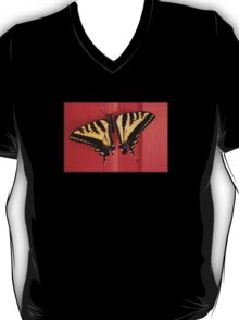 tiger swallowtail butterfly on unusual background T-Shirt