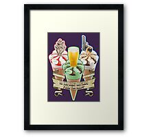 Three Flavours Cornetto Trilogy with banner Framed Print