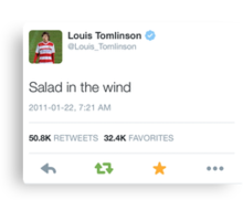 @louis_tomlinson salad in the wind Canvas Print