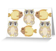 Friendly Fish & Big-Eyed Cats Greeting Card