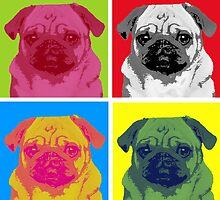 Pop Art Pug by Kathleen Legakis