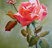 """Peace Rose"" by Judy  Koenig"