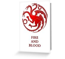 House Targaryen Greeting Card