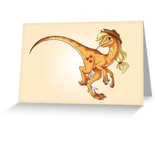 Raptor Applejack Greeting Card