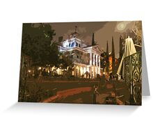 Where The Crypt Doors Creak Greeting Card