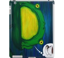 frog thinking about coffee iPad Case/Skin
