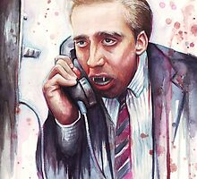 Nicolas Cage | A Vampire's Kiss | Watercolor Painting by OlechkaDesign