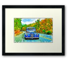 Painted Drive Framed Print