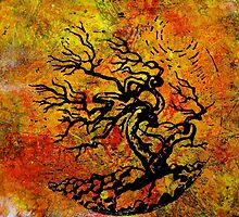 Old and Ancient Tree - Autumn Shades by Heather Holland by Heatherian