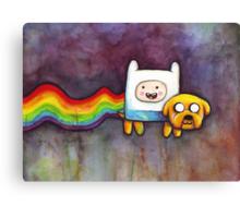 Nyan Time | Adventure Time Jake and Finn | Nyan Cat Canvas Print