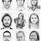 Workaholics Portraits Art  by OlechkaDesign