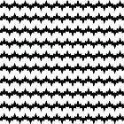 Black and White Triangle Spikes Pattern by StudioBlack