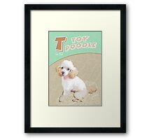 T is for Toy Poodle Framed Print