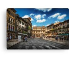 Piazza Delle Erbe Canvas Print