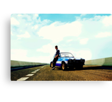 Fast and Furious Ford Escort Canvas Print