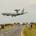 AWACS landing at RAF Waddington by Jonathan Cox