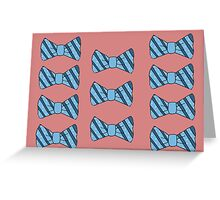 Retro bow tie poster Greeting Card