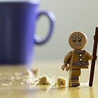 Angry Lego Gingerbread man by Kevin  Poulton - aka 'Sad Old Biker'
