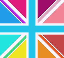 Union Jack Multicoloured Design by NataliePaskell