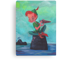 Story time with Peter Pan Canvas Print