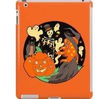 Halloween Witch Skeleton Pumpkin and Ghost iPad Case/Skin