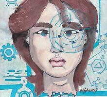 Watercolored cyber!Jinx by jinkidreamer