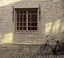 Bike leaning against Wall by Andrew Felton