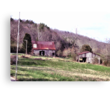 A Countryside View from the Car Window Canvas Print