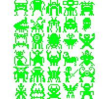 Warp Zone Creatures: Green Photographic Print