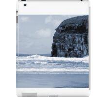 Atlantic waves crashing on Ballybunion beach and cliffs iPad Case/Skin