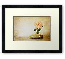 Vintage Rose - JUSTART © Framed Print