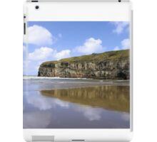 Ballybunion beach and cliffs wth Atlantic waves iPad Case/Skin