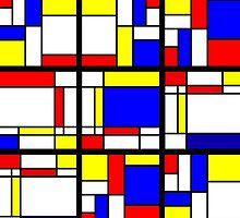 Mondrian Block Colour Collection No.7 by Ged J
