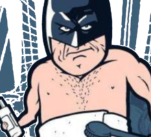 The Bathman (Incredible super hero with washing superpowers) Sticker