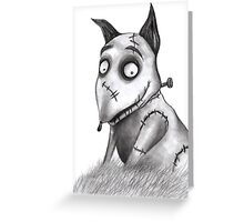 Sparky from Frankenweenie Greeting Card