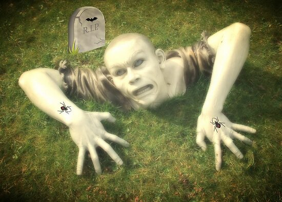 Creepy Graveyard by AnnDixon