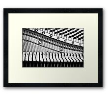 Piano Strings, Hammers & Pegs Framed Print