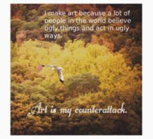 Art Is My Counterattack (Sticker) by W. Lotus